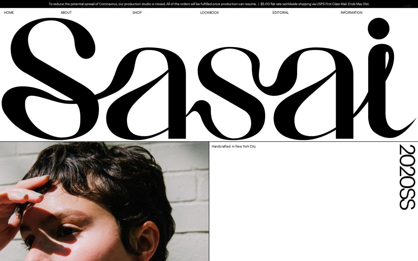 Screenshot of SASAI JEWELRY website