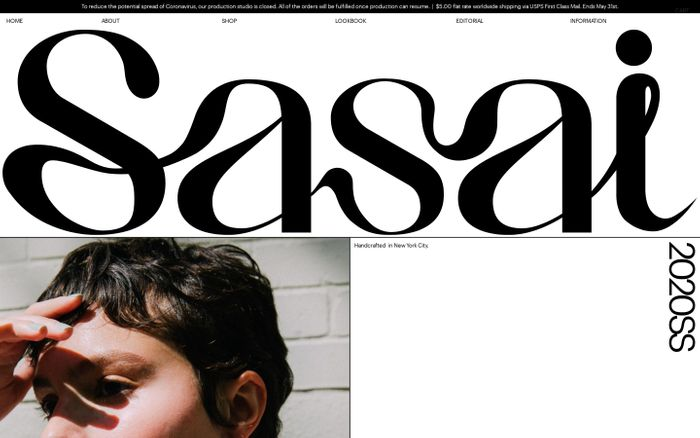 Screenshot of SASAI JEWELRY