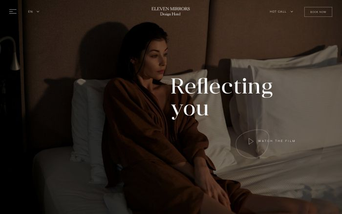 Screenshot of 11 Mirrors Hotel website