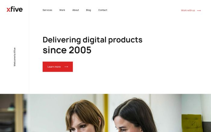 Screenshot of Delivering digital products since 2005 - Xfive