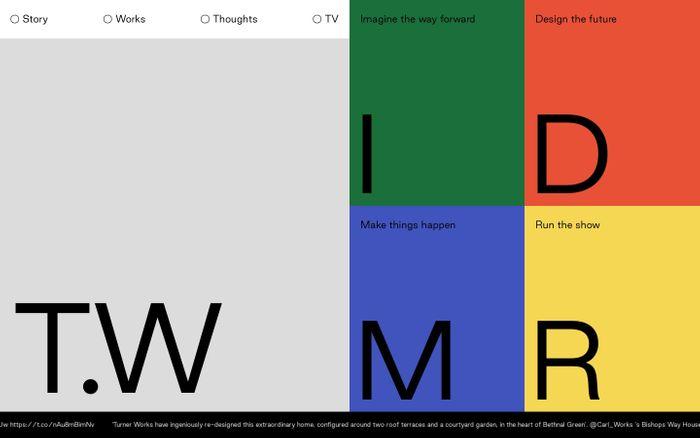 Screenshot of Turner works website