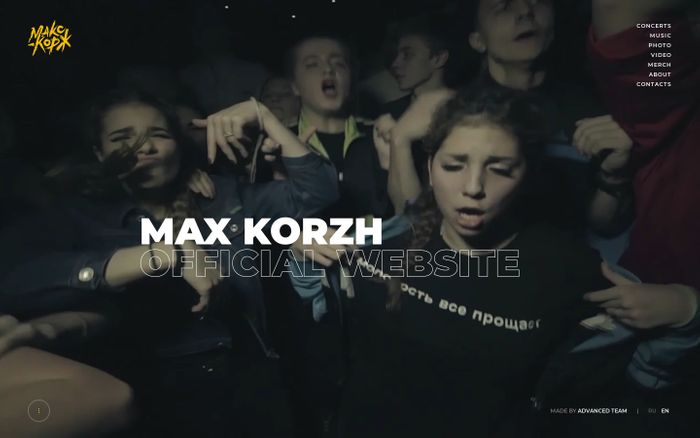 Screenshot of Max Korzh