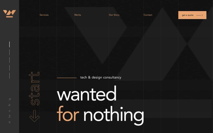 Screenshot of Wanted for Nothing - Top Rated Web Design Agency in Los Angeles