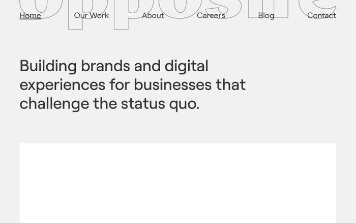 Screenshot of Opposite website