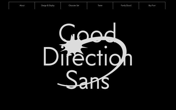Screenshot of Good Direction Sans website