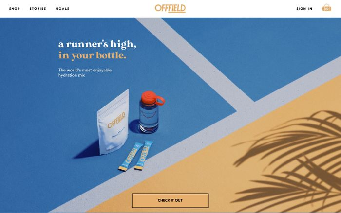 Screenshot of Offfield website