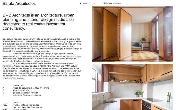 Screenshot of Barata Arquitectos