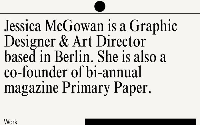 Screenshot of Jessica McGowan – Graphic Design