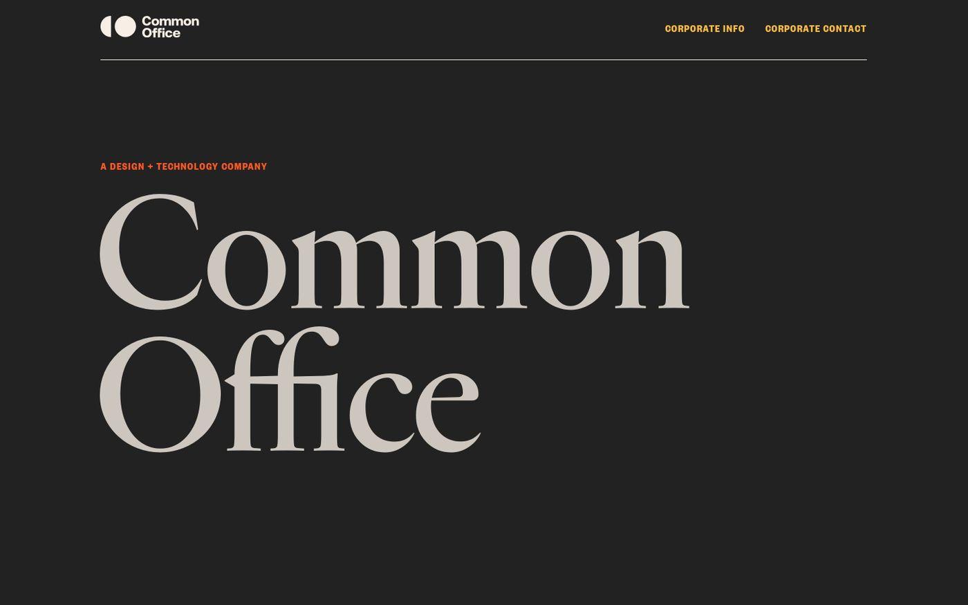 Screenshot of Common Office website