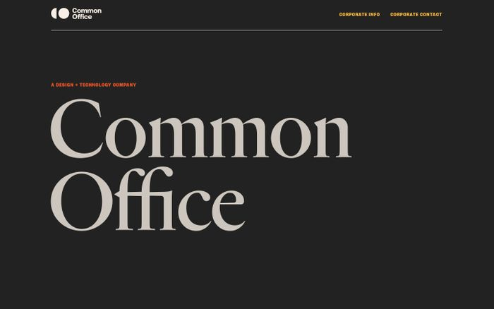 Screenshot of Common Office website