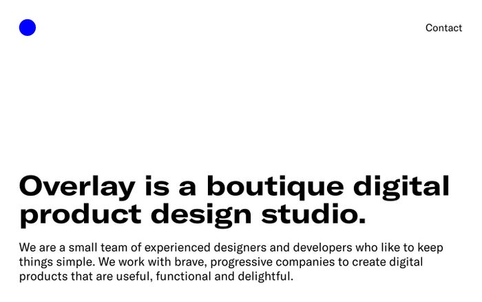 Screenshot of Overlay – Digital Product Design Studio