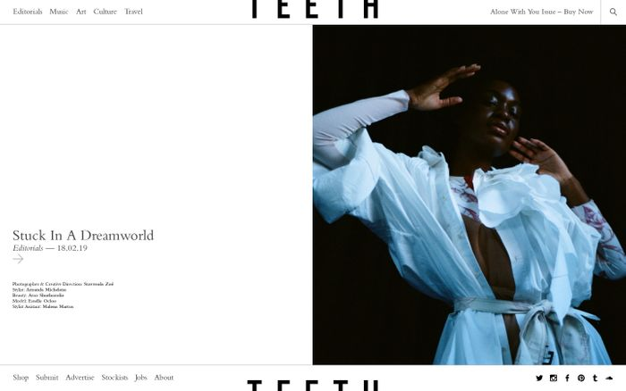 Screenshot of Home — Teeth Magazine