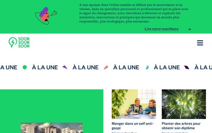 Screenshot of Soon Soon Soon website