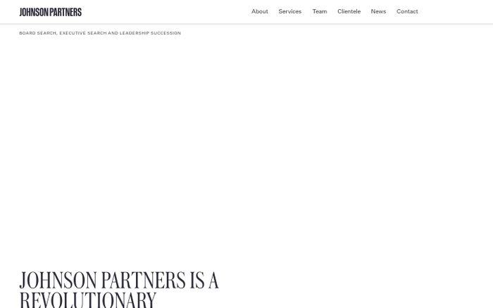 Screenshot of Executive Search & Recruitment Consulting Firm