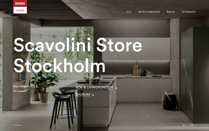 Screenshot of Scavolini Store Stockholm