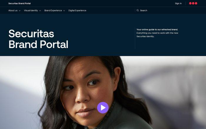 Screenshot of Securitas brand portal website
