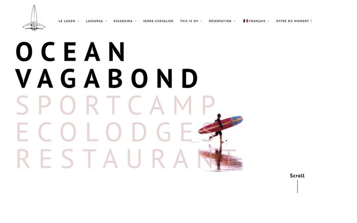 Screenshot of Océan Vagabond website