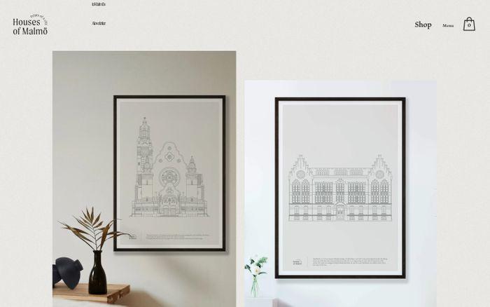 Screenshot of Houses Of Malmö website