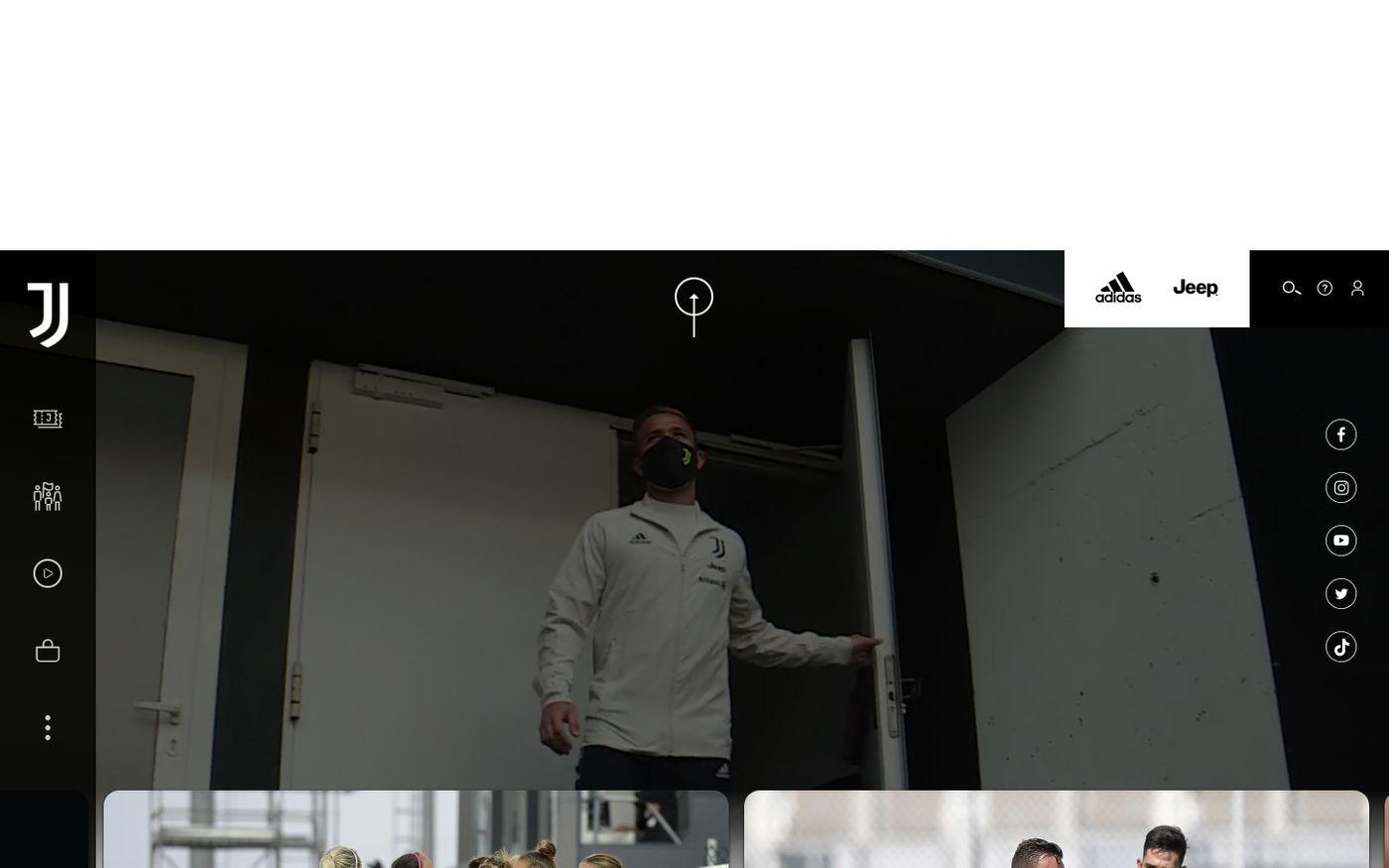 Screenshot of Juventus Football Club - Sito Ufficiale | Juventus.com website