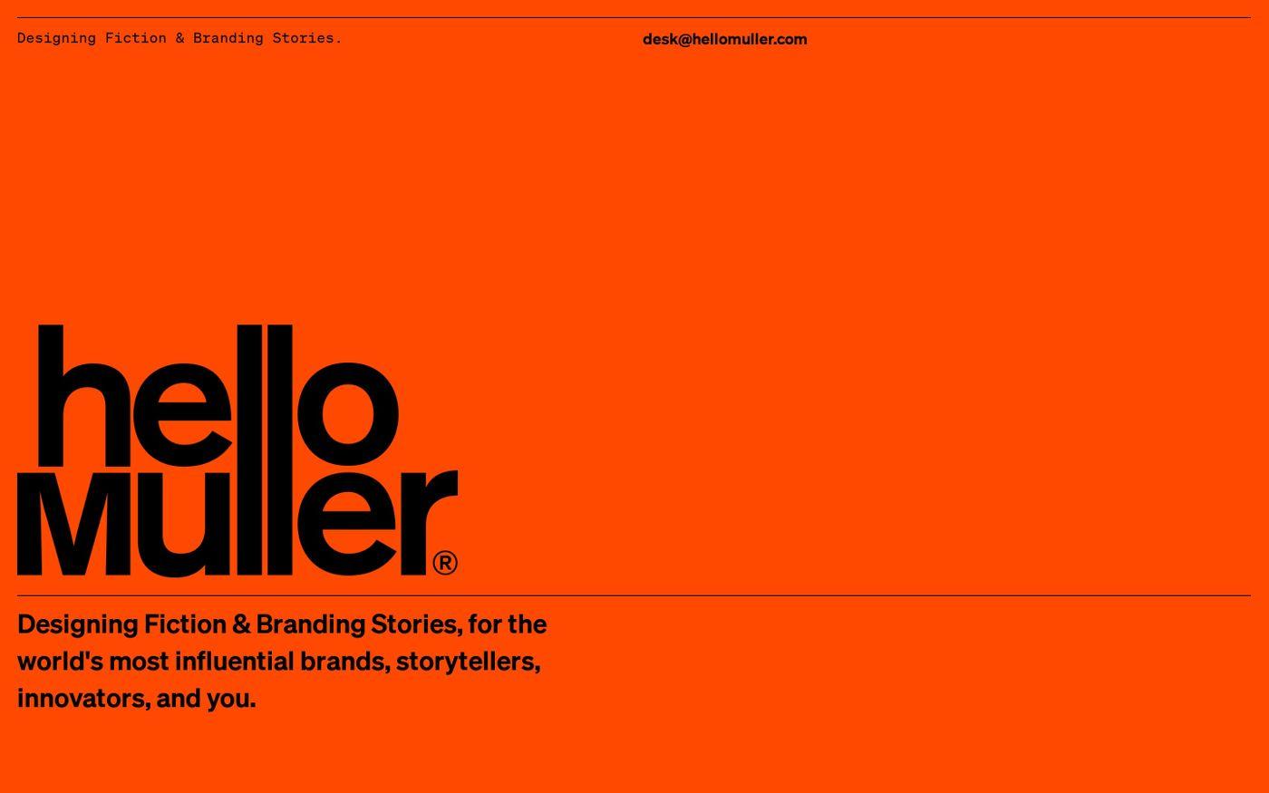 Screenshot of Tom Muller website