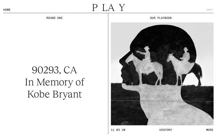 Screenshot of Play website