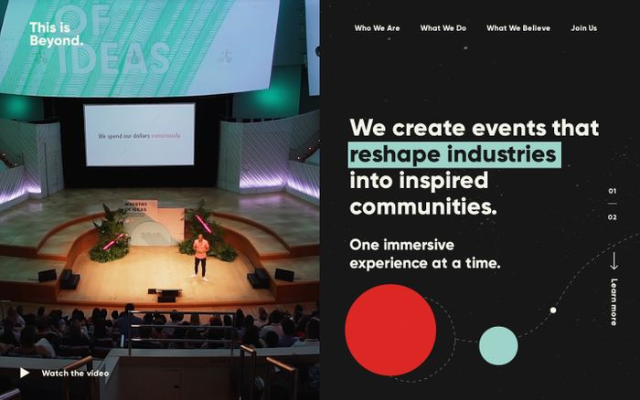 Screenshot of This is Beyond. – Reshaping industries into inspired communities