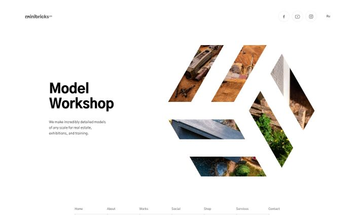 Screenshot of Minibricks — Model Workshop