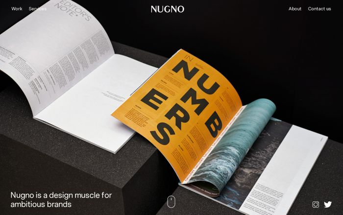 Screenshot of Nugno | Branding & Digital Design Studio