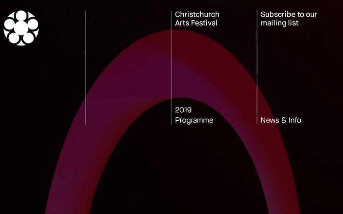 Screenshot of Christchurch Arts Festival