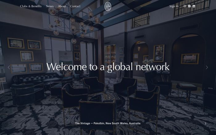 Screenshot of International Associate Clubs