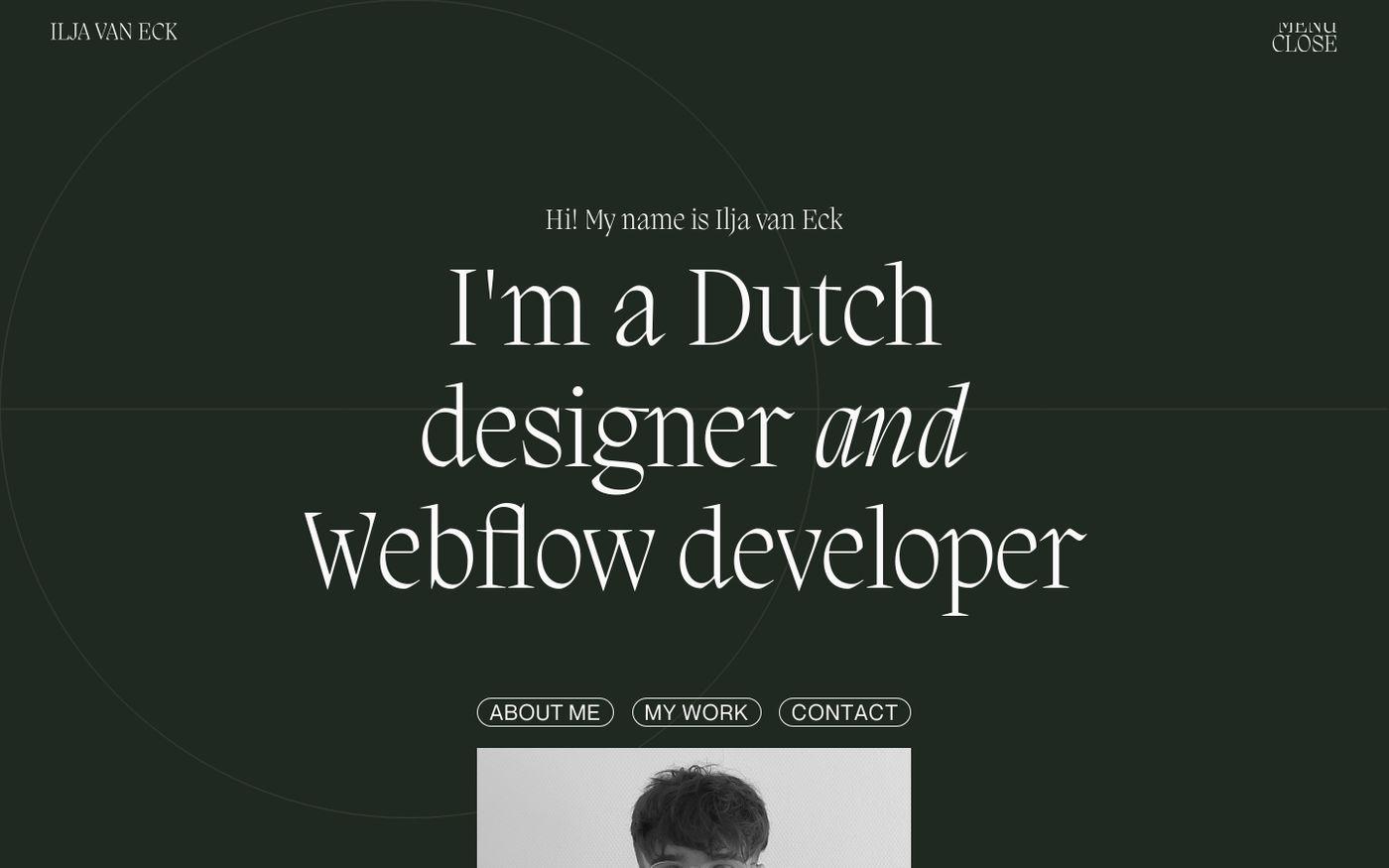 Screenshot of Ilja van Eck website