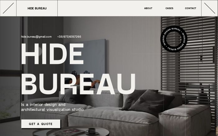 Screenshot of Hide Bureau