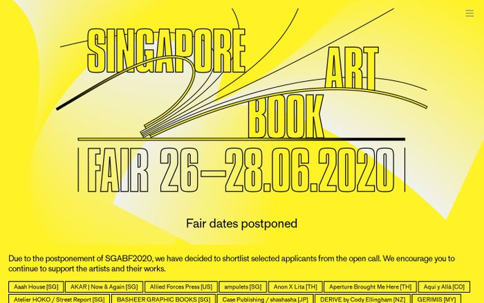 Screenshot of Singapore Art Book Fair