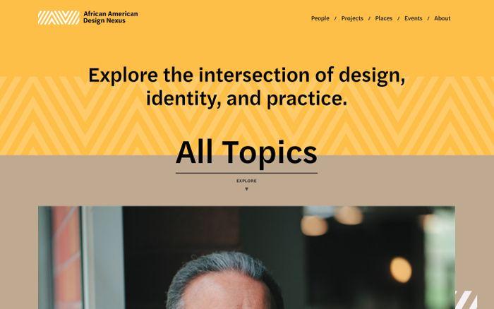 Screenshot of African American Design Nexus website