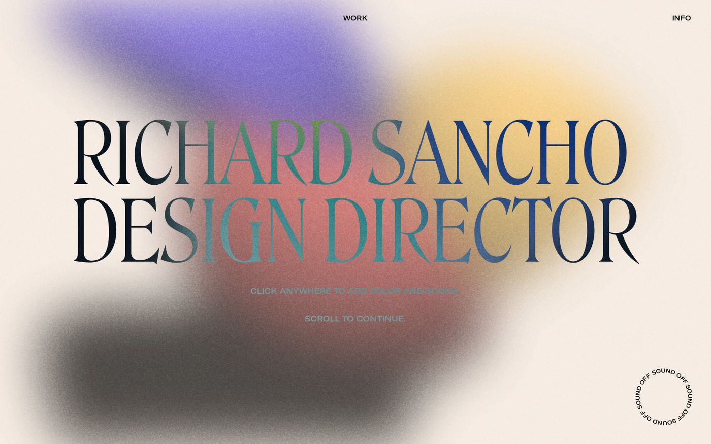 Screenshot of Richard Sancho website