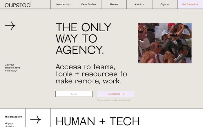 Screenshot of Curated: The Only Way to Agency