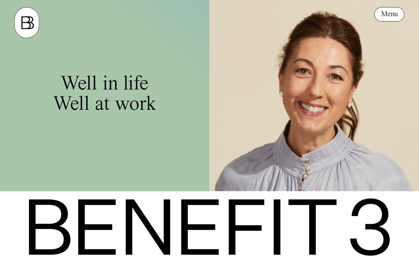 Screenshot of Benefit3 website