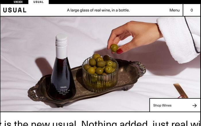 Screenshot of Usual wines