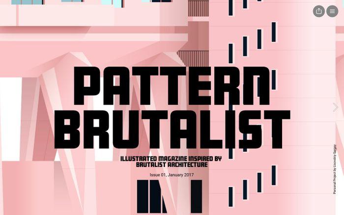 Screenshot of Pattern Brutalist