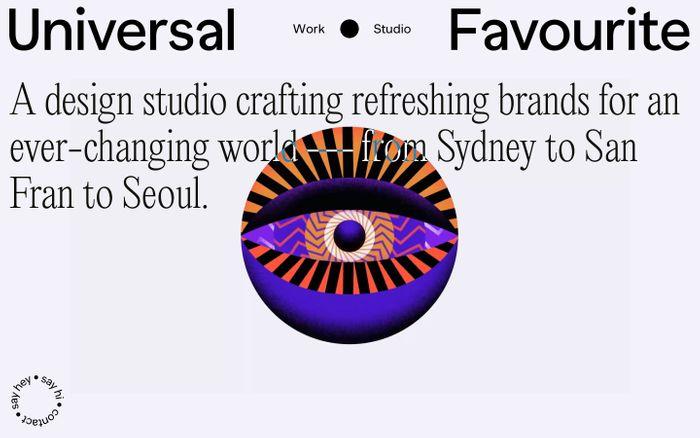 Screenshot of Universal Favourite website