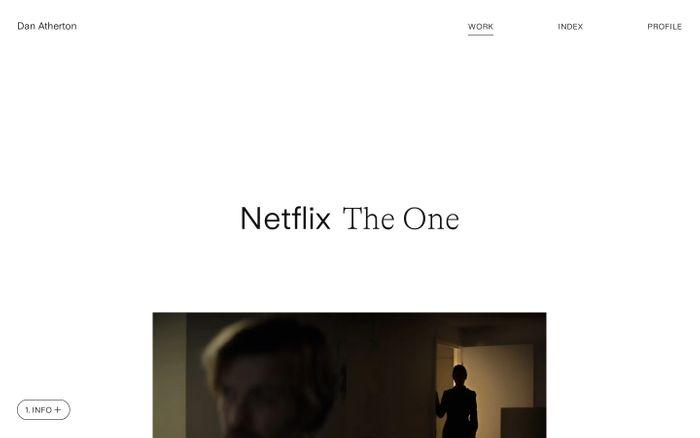 Screenshot of Dan Atherton website