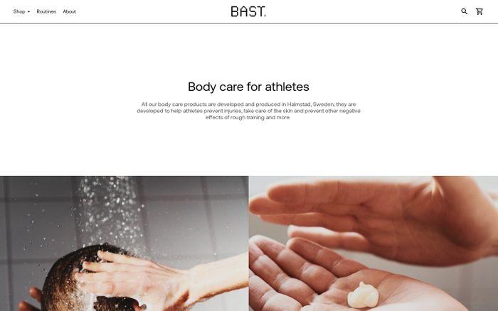 Screenshot of Bast Paris website