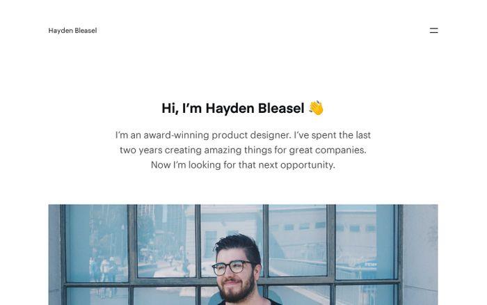 Screenshot of Hi, I'm Hayden Bleasel ? — Hayden Bleasel website