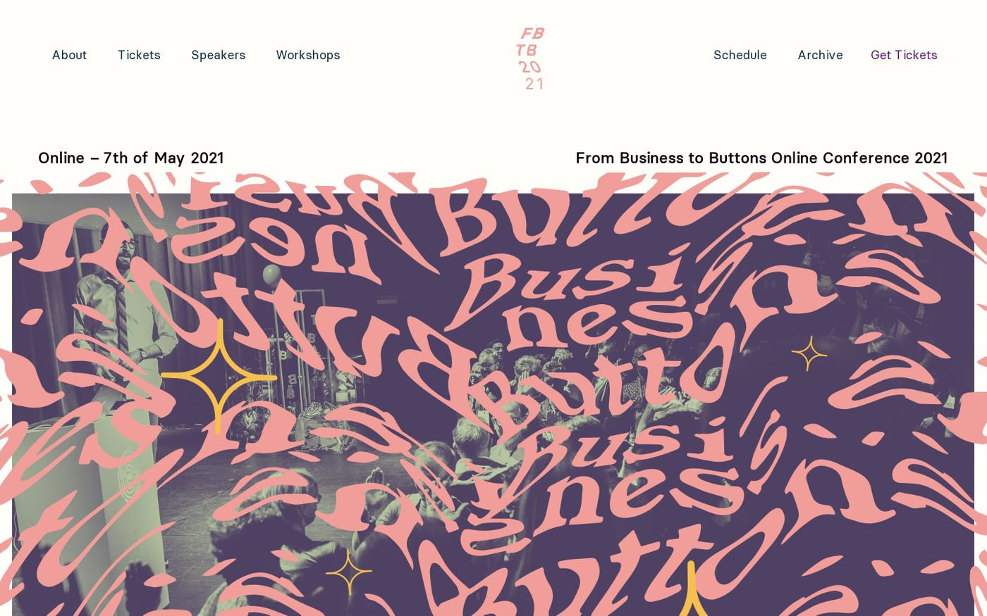 Screenshot of From Business to Buttons 2021 website